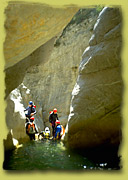 Canyoning in der Provence, Frankreich